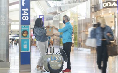 NomNom robot enhances contactless F&B service at LAX with Unibail-Rodamco-Westfield, Servy, and AtYourGate